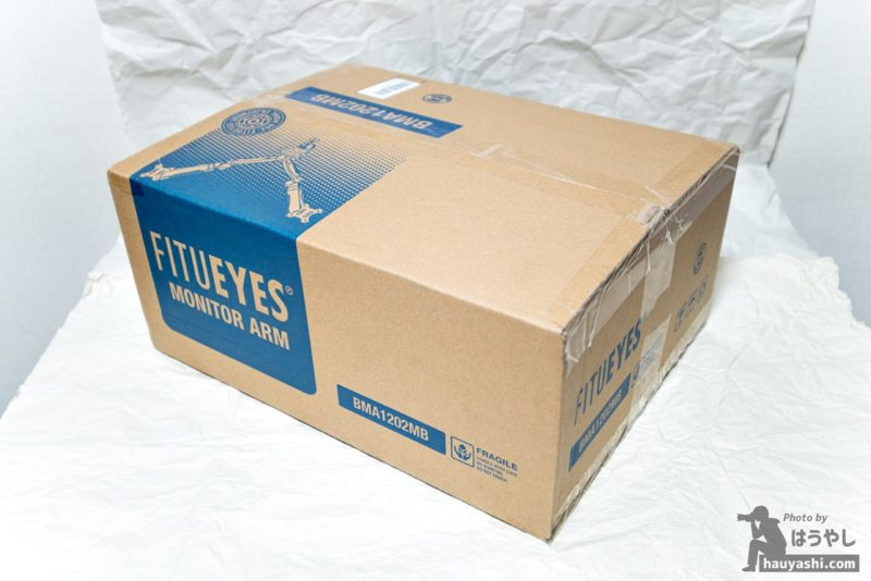 FITUEYES デュアル液晶モニターアーム「BMA1202MB」パッケージ