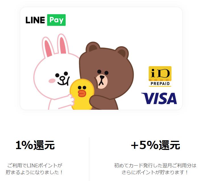 Visa LINE Pay プリペイドカード